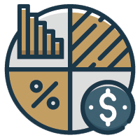 taxes paper sheet icon